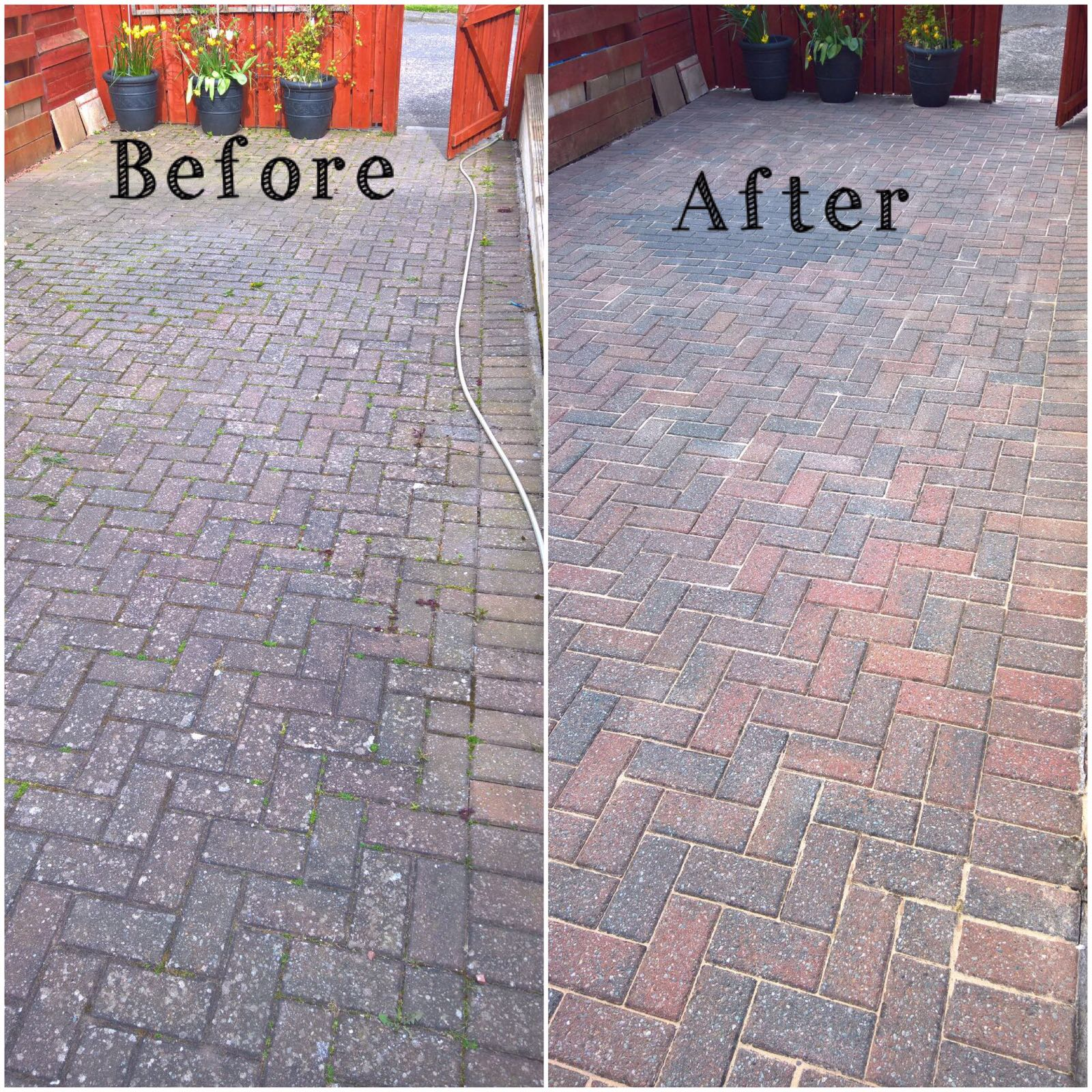 Driveway cleaning and pressure washing in edinburgh
